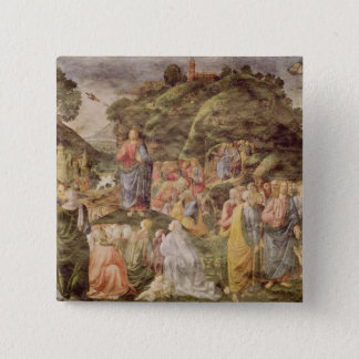 The Sermon on the Mount, from the Sistine 15 Cm Square Badge