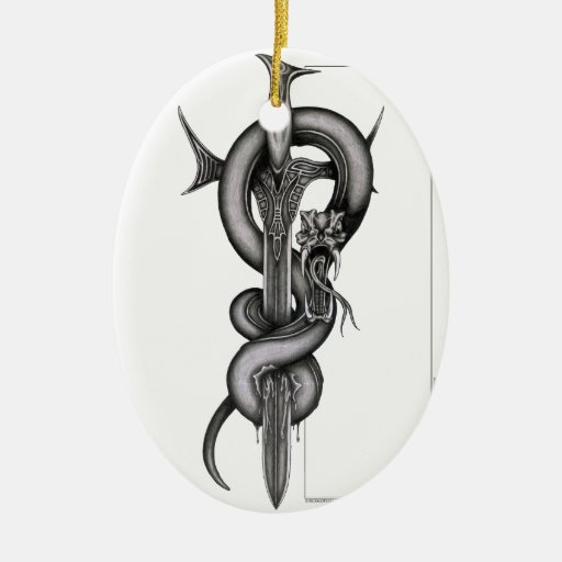 The Serpent & the Sword Christmas Tree Ornaments