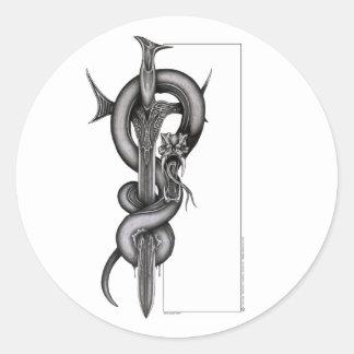 The Serpent & the Sword Round Sticker