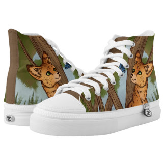 The Serval and the Butterfly High Tops