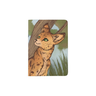 The Serval and the Butterfly Passport Holder