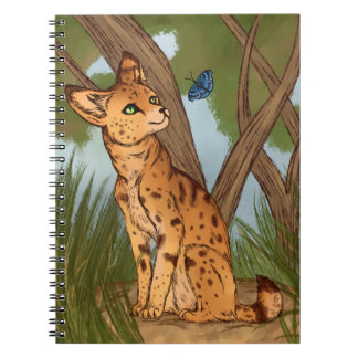 The Serval and the Butterfly Spiral Note Books
