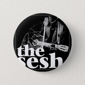 """""""the sesh"""" 2-1/4"""" Black Circular Button"""