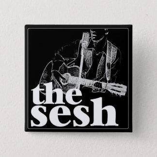 """""""the sesh"""" 2"""" Black Square Button"""
