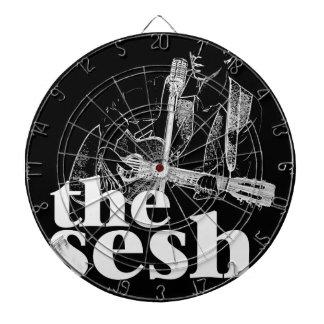 """the sesh"" Dartboard (Black)"