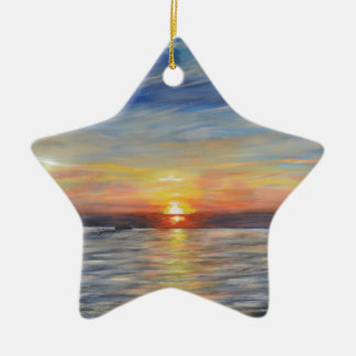 The Setting Sun Ceramic Star Decoration