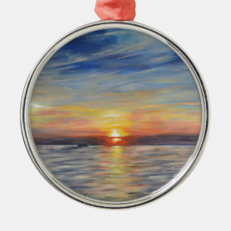 The Setting Sun Christmas Ornament