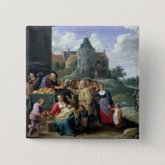 The Seven Acts of Mercy 15 Cm Square Badge