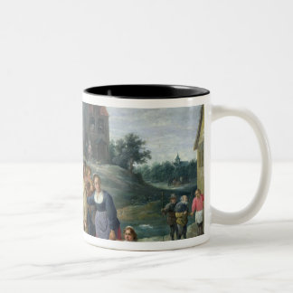 The Seven Acts of Mercy Two-Tone Coffee Mug