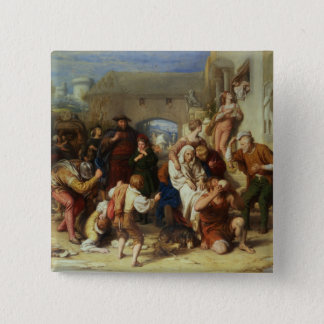 The Seven Ages of Man, 1835-8 (oil) 15 Cm Square Badge