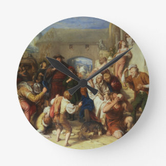 The Seven Ages of Man, 1835-8 (oil) Round Clock