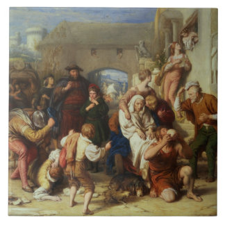 The Seven Ages of Man, 1835-8 (oil) Tile