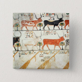 The seven celestial cows and the sacred bull 15 cm square badge