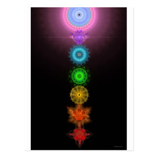The Seven Chakras Postcard