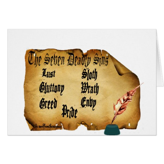 The Seven Deadly Sins Card