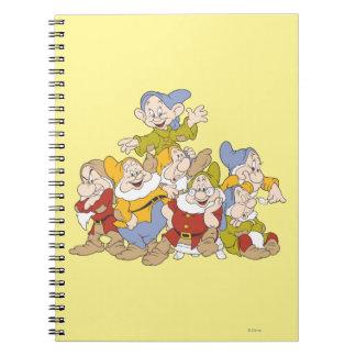 The Seven Dwarfs 4 Notebooks