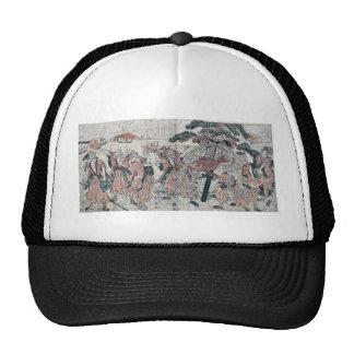 The seven gods of good luck by Katsukawa,Shunsen Mesh Hats