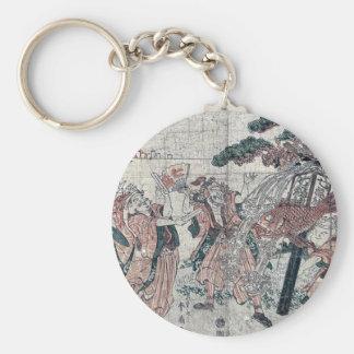 The seven gods of good luck by Katsukawa,Shunsen Key Ring