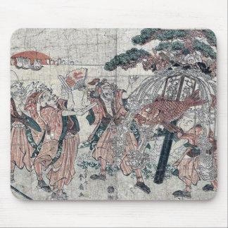 The seven gods of good luck by Katsukawa Shunsen Mousepads