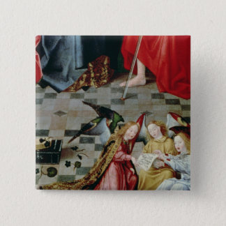 The Seven Joys of the Virgin Altarpiece 15 Cm Square Badge