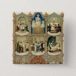 The Seven Sacraments 15 Cm Square Badge