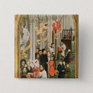The Seven Sacraments Altarpiece 15 Cm Square Badge