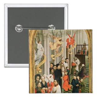 The Seven Sacraments Altarpiece 15 Cm Square Badge