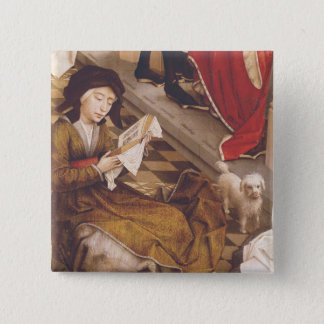 The Seven Sacraments Altarpiece 2 15 Cm Square Badge