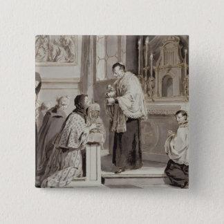 The Seven Sacraments: Communion, 1779 (pen, brown 15 Cm Square Badge