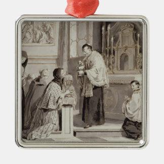 The Seven Sacraments: Communion, 1779 (pen, brown Christmas Ornament