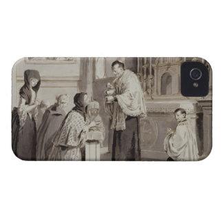 The Seven Sacraments: Communion, 1779 (pen, brown iPhone 4 Case-Mate Case