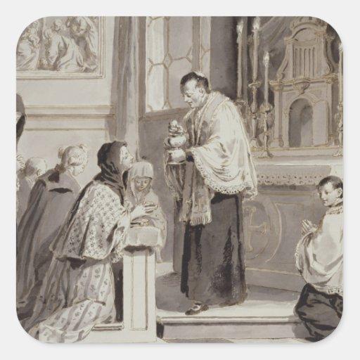 The Seven Sacraments: Communion, 1779 (pen, brown Stickers