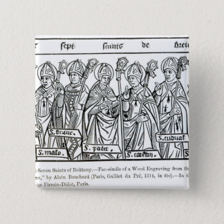 The Seven Saints of Brittany 15 Cm Square Badge