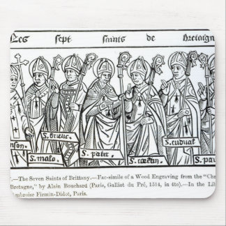 The Seven Saints of Brittany Mouse Mat