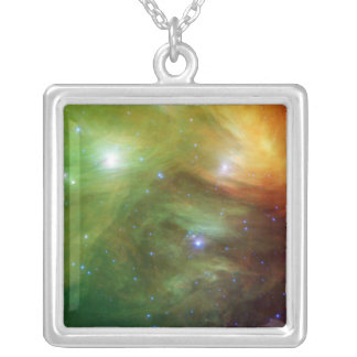 The Seven Sisters, also known as the Pleiades Silver Plated Necklace