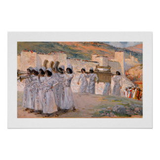 The Seven Trumpets of Jericho Art Print