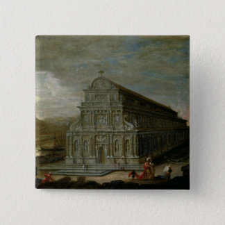 The Seven Wonders of the World 15 Cm Square Badge