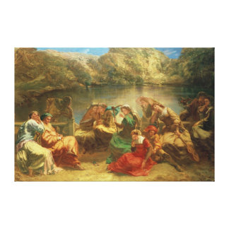 The Seventh day of the Decameron Canvas Print