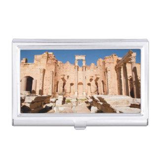 The Severan Basilica, Leptis Magna, Al Khums 2 Business Card Holder