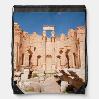 The Severan Basilica, Leptis Magna, Al Khums 2 Drawstring Bag
