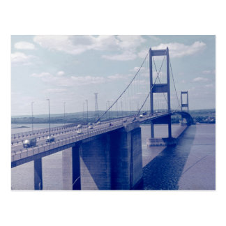The Severn Bridge from Aust (1970s) Postcard