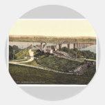 The Severn Bridge, Sharpness, England rare Photoch Round Stickers