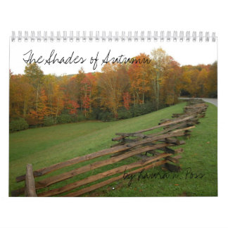 The Shades of Autumn, by Laura D. Poss Wall Calendar