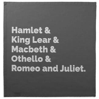 The Shakespeare Plays I Napkin