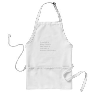 The Shakespeare Plays I Standard Apron