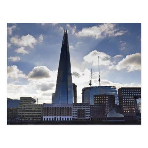 The Shard and South Bank London Postcard