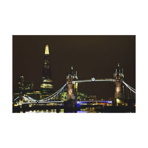 The Shard and Tower Bridge Gallery Wrap Canvas