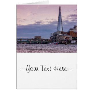 The Shard In The Evening, London UK Card
