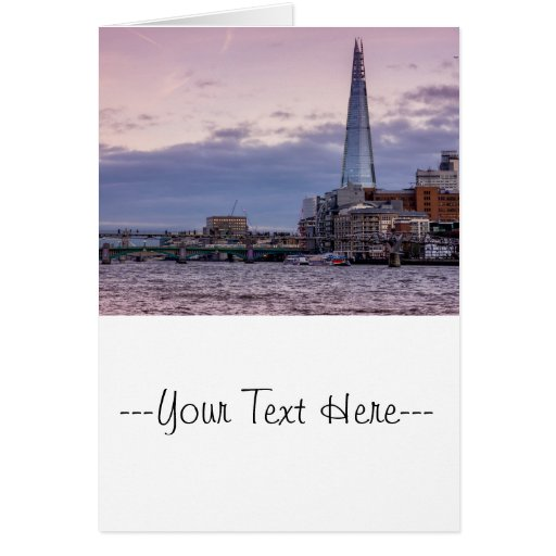 The Shard In The Evening, London UK Cards