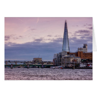 The Shard In The Evening, London UK Greeting Card